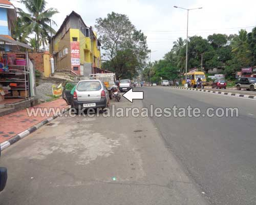 main road residential house plot for sale at Peroorkada thiruvananthapuram kerala real estate